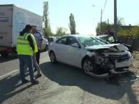 Dezastrul provocat de o șoferiță de 20 de ani în Dâmbovița. Cinci oameni au fost răniți