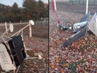Satelitul căzut din spațiu în grădina unui cuplu. Ce legătură ar avea cu un cunoscut model