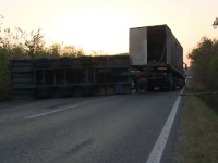 Accident în Dâmbovița. Un șofer de camion, la un pas să provoace o tragedie
