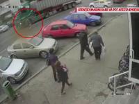 Momentul în care o femeie este strivită de roțile unui camion, în Bacău