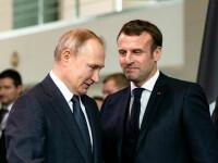 Emmanuel Macron și Vladimir Putin au discutat despre îmbunătăţirea relaţiilor dintre Europa şi Rusia