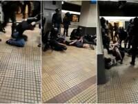 Jandarmeria explică intervenția violentă de la metrou. 30 de suporteri, duși la secție