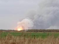 Incendiu de proportii intr-un depozit de munitii. Zeci de sate au fost evacuate de urgenta