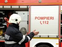 Un autobuz în care se aflau călători a luat foc în Sibiu. Pompierii au intervenit
