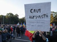 FOTO. Proteste în Capitală față de restricțiile Covid. Centrul Bucureștiului, blocat. Reacția Poliției