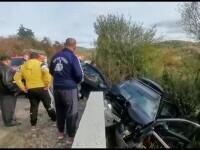 Accident grav în județul Cluj. Un bărbat a murit după ce mașina în care se afla s-a izbit violent de un cap de pod
