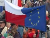 Zeci de mii de oameni au ieșit în stradă, în Polonia, pentru a-și arăta susținerea față de Uniunea Europeană
