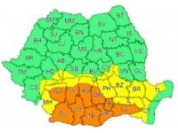 Cod portocaliu și cod galben de ploi în mai multe regiuni ale țării. La munte va ninge