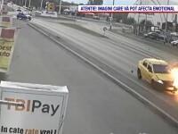 Șoferița care a lovit intenţionat cu maşina un poliţist pe motocicletă, condamnată la peste 9 ani de închisoare cu executare