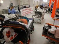"""GALERIE FOTO. Unitatea de primiri urgențe de la """"Bagdasar Arseni"""", sufocată de pacienți infectați cu SARS-Cov-2"""