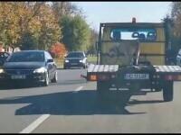 Imagini revoltătoare în Caransebeș. Câine legat pe platforma unei camionete