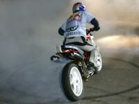 Motocicleta in flacari la raliul hard enduro, de la Sibiu! Vezi VIDEO!