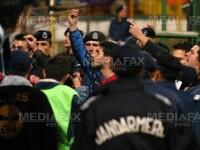Meci de box intre suporteri la meciul Rapid - Steaua!