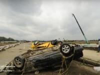 Rafale de vant de 220km/h! Taifunul Fanapi face ravagii in Taiwan
