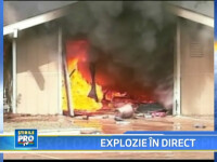 Explozie in direct! Un garaj a sarit in aer, chiar in timpul unui reportaj!