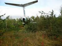 Aterizare spectaculoasa a unui avion de linie in taigaua Marelui Nord