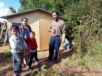 5 familii de romi, evacuate dintr-o padure din apropiere de Targu Mures