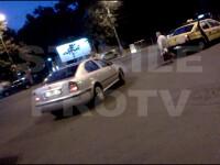 VIDEO. A plecat cu un taximetrist pe capota, dupa un accident rutier