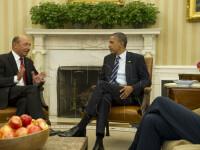 Maratonul lui Traian Basescu in SUA. L-a convins pe Obama sa sustina modificarea legii vizelor