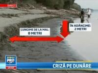 Situatia a devenit critica pe Dunare: 90.000 de tone de marfa, blocate. Pierderile sunt uriase