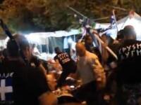 Imaginile simbol pentru o societate pe marginea prapastiei. Gestul partidului neo-nazist din Grecia