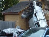 Accident bizar in Anglia. Autoritatile nu pot spune cum a ajuns masina in dormitorul de la etajul 1