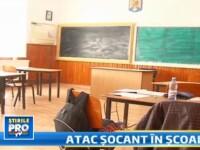 Scena SOCANTA in Romania.Un elev cu schizofrenie si-a atacat cu un cutit colegul in fata profesoarei
