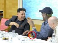 Gafa de Photoshop a Phenianului in fotografia de la intalnirea dintre Dennis Rodman si Kim Jong-Un