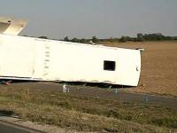 Autocarul echipei de baschet Gyor, implicat intr-un accident grav: 2 morti si 16 raniti