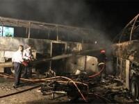 44 de persoane au murit, 39 sunt ranite dupa ce doua autobuze au luat foc pe o autostrada din Iran