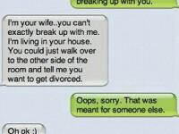 A vrut sa se desparta de amanta, insa din greseala i-a trimis mesajul sotiei