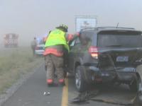 Accident cu sapte raniti pe o autostrada din SUA. Fenomenul meteo care a redus brusc vizibilitatea la zero