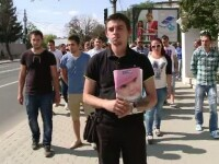 Protest organizat la Iasi de tatal fetitei care a murit la nastere.