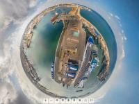 Portul Constanta si una dintre cele mai impresionante nave de croaziera din lume, intr-o panorama 360 cum n-ai mai vazut