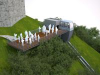 Atractia iernii la Rasnov. Cum se construieste liftul cu cremaliera, de 2,5 milioane de euro, inspirat din Austria