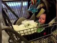 O mama si-a uitat bebelusul in caruciorul de cumparaturi, la magazin. Cum si-a justificat gestul