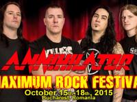 Maximum Rock Festival 2015. Mesajul lui Jeff Waters pentru fanii Annihilator din Romania. VIDEO