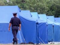 Zeci de corturi pentru refugiati ridicate in Timis, la granita cu Serbia. Reactia localnicilor: