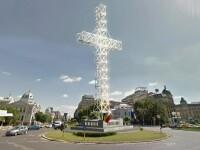 O cruce de 25 de metri si cu 40 de becuri ar putea fi montata in centrul Capitalei. Proiectul a fost adoptat de senatori