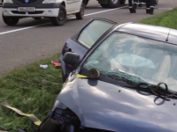 Accident tragic la Cluj. Un barbat a adormit la volan, iar masina s-a infipt intr-un cap de pod. Sotia si fiul lui au decedat