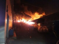Incendiu puternic intr-o tabara de migranti din Grecia. Mii de persoane au fugit din zona