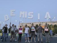 Proteste în Piaţa Victoriei faţă de retragerea Roşiei Montane de pe lista UNESCO