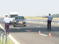100 de șoferi care conduceau cu peste 180 km/h, prinși în trafic. Viteza atinsă de un tânăr, pe A1