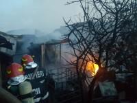 Incendiu la un service auto din Ilfov. Un om a fost rănit
