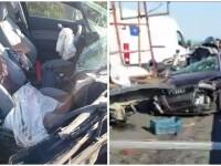 Cinci răniţi, între care un copil de 5 ani, într-un accident produs pe A2