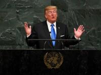 """Trump a amenințat că va distruge în întregime Coreea de Nord și l-a numit pe Kim Jong-un """"omul-rachetă"""""""