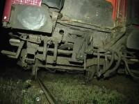 Trenul Iaşi-Timişoara a deraiat imediat după ce a ieşit din gara Dej