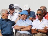 Un turneu de golf i-a adus împreună pe foștii președinți Obama, Bush și Clinton