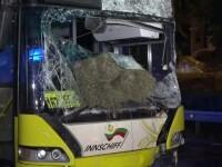 Tragedie pe DE 58. Doi oameni au fost spulberați cu tot cu căruță de un autobuz