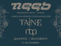 Seară de concerte progressive metal la București cu Need, Taine și Mihai Barbu Project